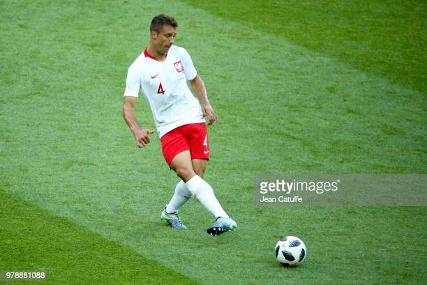 Thiago Cionek of Poland during 2018 FIFA World Cup Russia group H match between Poland and Senegal at Spartak Stadium on June 19 2018 in Moscow Russia