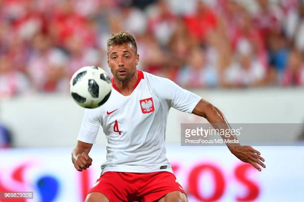 Thiago Cionek of Poland during International Friendly match between Poland and Chile on June 8 2018 in Poznan Poland