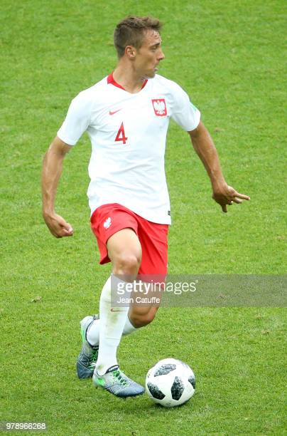 Thiago Cionek of Poland during the 2018 FIFA World Cup Russia group H match between Poland and Senegal at Spartak Stadium on June 19 2018 in Moscow...