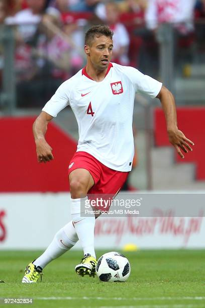 Thiago Cionek of Poland in action during International Friendly match between Poland and Lithuania on June 12 2018 in Warsaw Poland