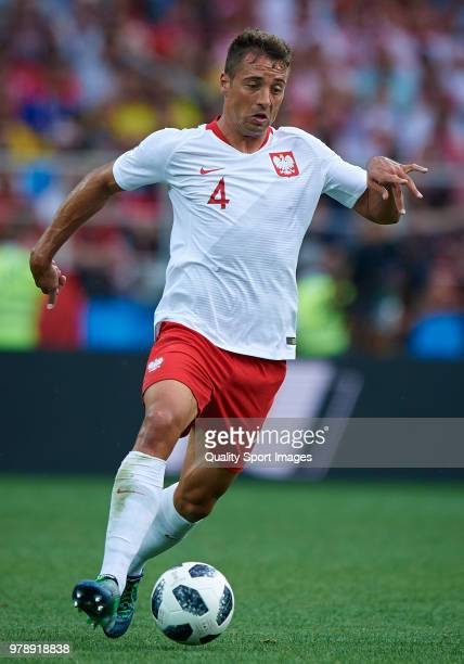 Thiago Cionek of Poland in action during the 2018 FIFA World Cup Russia group H match between Poland and Senegal at Spartak Stadium on June 19 2018...