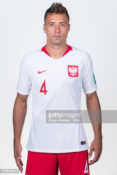 Thiago Cionek of Poland poses during the official FIFA World Cup 2018 portrait session at Hyatt Regency Hotel on June 14 2018 in Sochi Russia