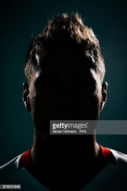 Thiago Cionek of Poland poses during the official FIFA World Cup 2018 portrait session on June 14 2018 in Sochi Russia