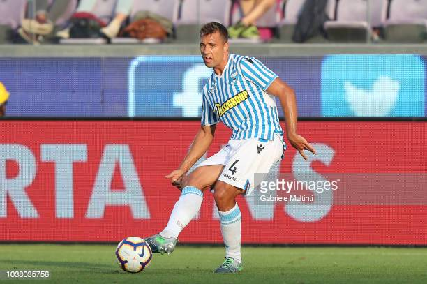 Thiago Cionek of SPAL in action during the Serie A match between ACF Fiorentina and SPAL at Stadio Artemio Franchi on September 22 2018 in Florence...