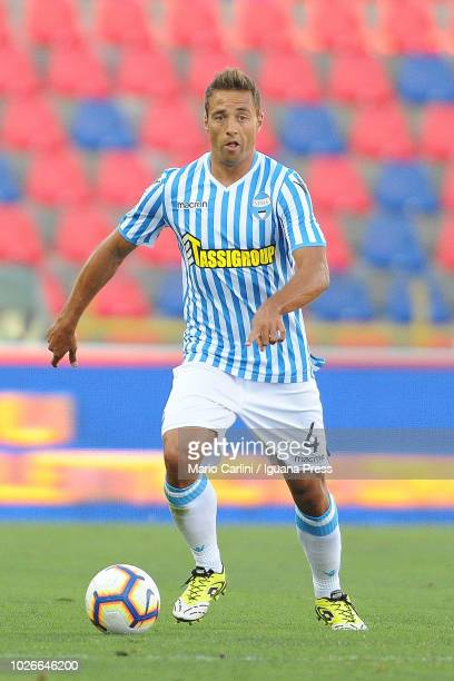 Thiago Cionek of SPAL in action during the serie A match between SPAL and Parma Calcio at Stadio Renato Dall'Ara on August 26 2018 in Bologna Italy