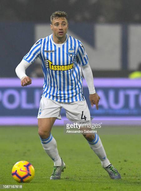 Thiago Cionek of Spal in action during the Serie A match between Spal and Udinese at Stadio Paolo Mazza on December 26 2018 in Ferrara Italy
