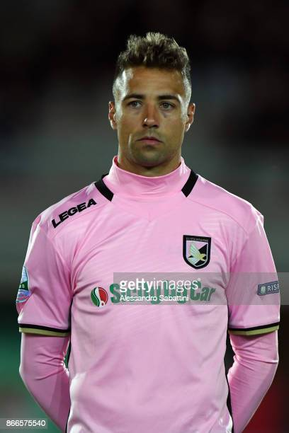 Thiago Cionek of US Citta di Palermo looks on before the Serie B match between FC Carpi and US Citta di Palermo on October 24 2017 in Carpi Italy