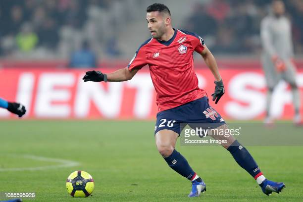 Thiago Maia Alencar of Lille during the French League 1 match between Lille v Amiens SC at the Stade Pierre Mauroy on January 18, 2019 in Lille France