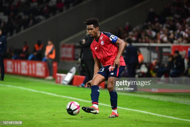 Thiago Mendes of Lille during the Ligue 1 match between Lille and Toulouse at Stade Pierre Mauroy on December 22 2018 in Lille France