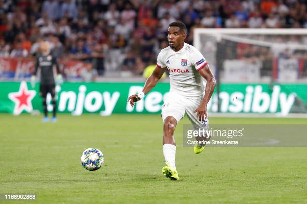 Thiago Mendes of Olympique Lyonnais controls the ball during the UEFA Champions League group G match between Olympique Lyon and Zenit St. Petersburg...