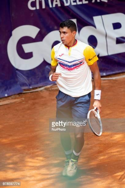 Thiago Monteiro during match between Thiago Monteiro and Hernan Casanova during day 4 at the Internazionali di Tennis Città dell'Aquila in L'Aquila,...