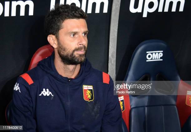 Thiago Motta new head coach of Genoa CFC during the Serie A match between Genoa CFC and Brescia Calcio at Stadio Luigi Ferraris on October 26, 2019...
