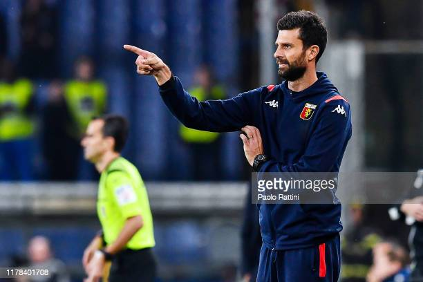 Thiago Motta new head coach of Genoa CFC during the Serie A match between Genoa CFC and Brescia Calcio at Stadio Luigi Ferraris on October 26 2019 in...