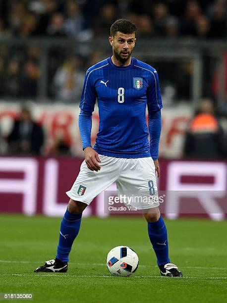 Thiago Motta of Italy in action during the international friendly match between Germany and Italy at Allianz Arena on March 29 2016 in Munich Germany