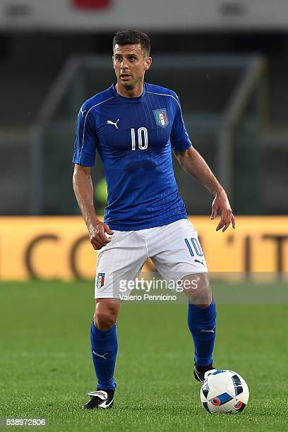 Thiago Motta of Italy in action during the international friendly match between Italy and Finland on June 6 2016 in Verona Italy