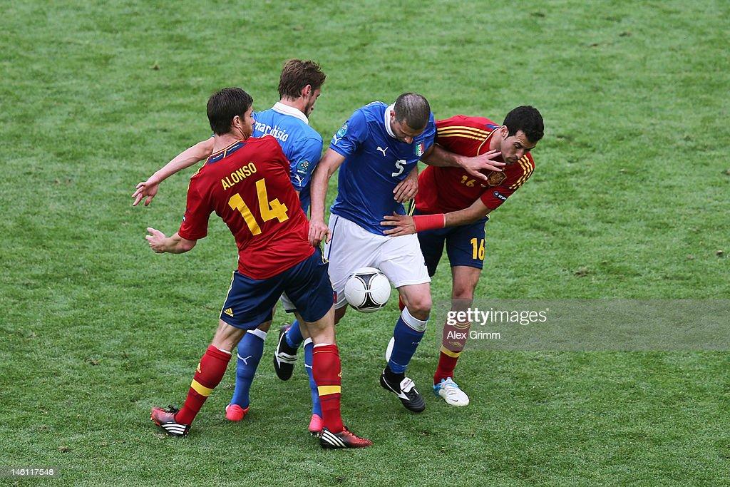 Spain v Italy - Group C: UEFA EURO 2012 : News Photo