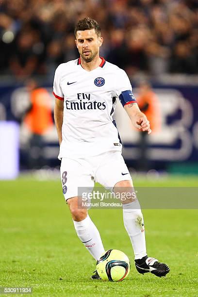 Thiago Motta of Paris SG during the French Ligue 1 match between FC Girondins de Bordeaux and Paris Saint-Germain at Nouveau Stade de Bordeaux on May...