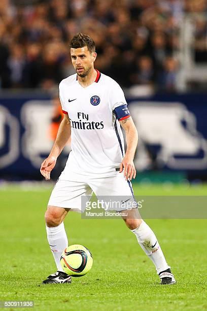 Thiago Motta of Paris SG during the French Ligue 1 match between FC Girondins de Bordeaux and Paris SaintGermain at Nouveau Stade de Bordeaux on May...