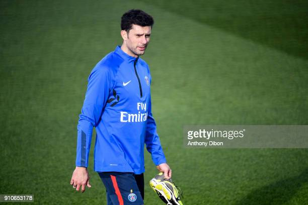 Thiago Motta of PSG during training session of Paris Saint Germain PSG at Camp des Loges on January 26 2018 in Paris France