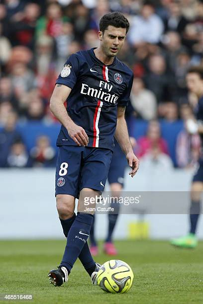 Thiago Motta of PSG in action during the French Ligue 1 match between Paris SaintGermain FC and RC Lens at Parc des Princes stadium on March 7 2015...