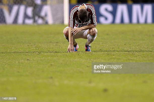 Thiago Neves of Fluminense cry after lost a match between Fluminense and Boca Juniors as part of the Copa Libertadores 2012 at Joao Havelange Stadium...