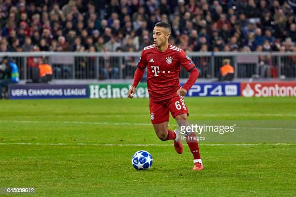 Thiago of Bayern Muenchen controls the ball during the Group A match of the UEFA Champions League between Borussia Dortmund and AS Monaco at Signal...