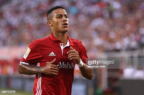 Thiago of Bayern Muenchen is pictured during the International Champions Cup match between FC Bayern Muenchen and Real Madrid CF at MetLife Stadium...