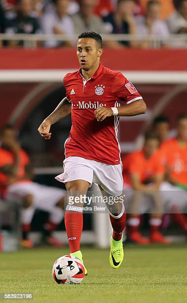 Thiago of Bayern Muenchen kicks the ball during the International Champions Cup between FC Bayern Muenchen and AC Milan of AUDI Summer Tour USA 2016...