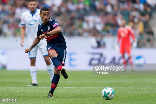 Thiago of Munich controls the ball during the Telekom Cup 2017 match between Bayern Muenchen and 1899 Hoffenheim at on July 15 2017 in...