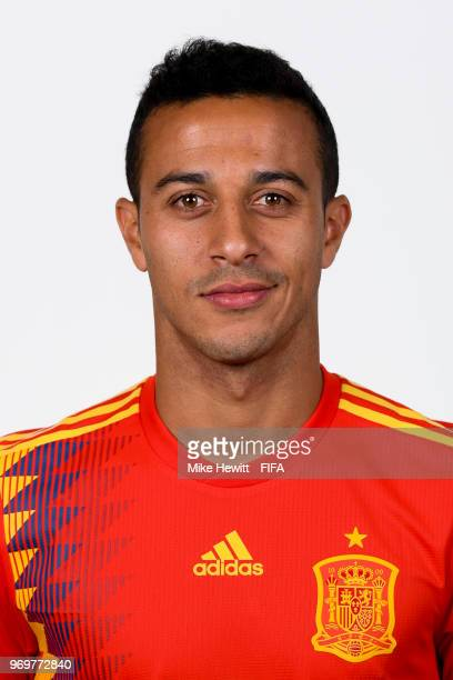 f0879820a Thiago of Spain poses for a portrait during the official FIFA World Cup  2018 portrait session
