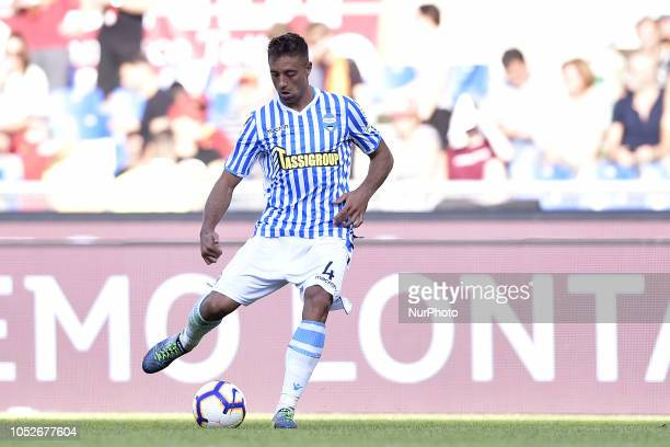 Thiago Rangel Cionek of SPAL during the Serie A match between Roma and SPAL at Stadio Olimpico Rome Italy on 20 October 2018