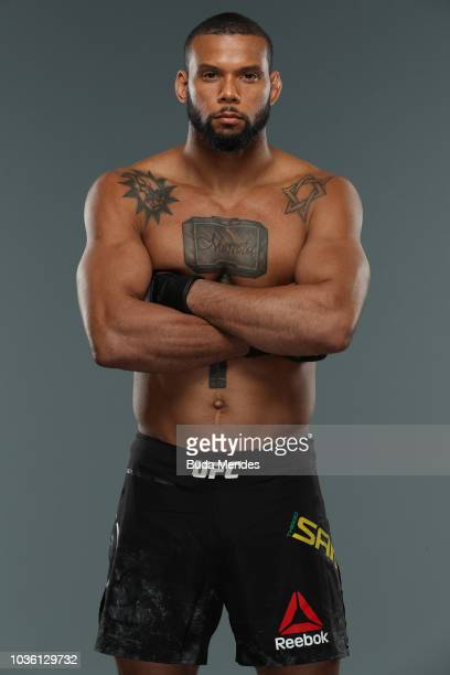 Thiago Santos of Brazil poses for a portrait during a UFC photo session on September 19 2018 in Sao Paulo Brazil