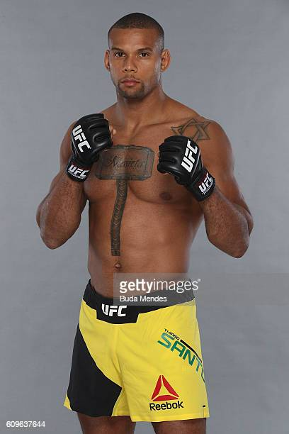 Thiago Santos of Brazil poses for a portrait during a UFC photo session on September 21 2016 in Brasilia Brazil