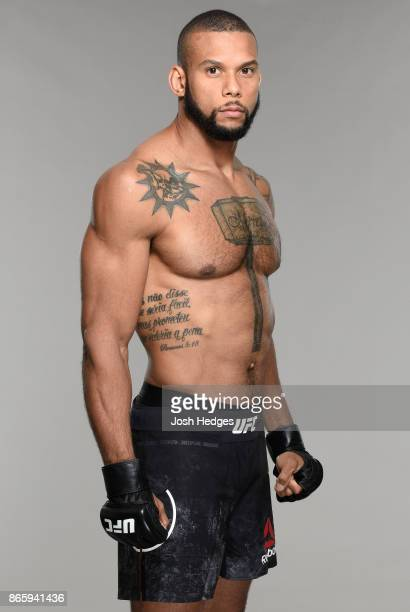 Thiago Santos of Brazil poses for a portrait during a UFC photo session on October 25 2017 in Sao Paulo Brazil