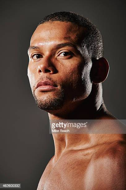 Thiago Santos poses for a post fight portrait during the UFC 183 event at the MGM Grand Garden Arena on January 31 2015 in Las Vegas Nevada
