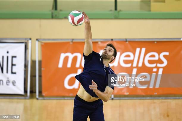 Thiago Sens of Montpellier during the Volleyball friendly match on September 22 2017 in Montpellier France