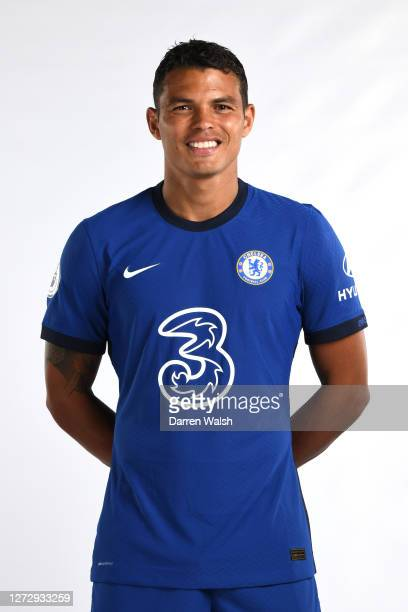 Thiago Silva of Chelsea during a Chelsea Media Day at Chelsea Training Ground on September 16, 2020 in Cobham, England.
