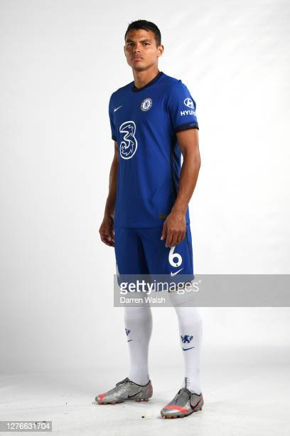 Thiago Silva of Chelsea during a studio photoshoot at Chelsea Training Ground on September 16, 2020 in Cobham, England.