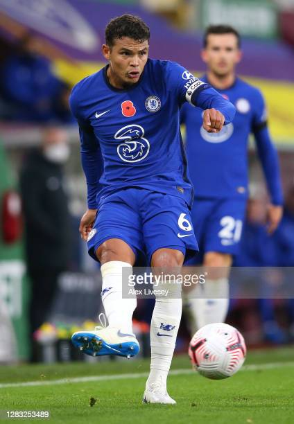 Thiago Silva of Chelsea during the Premier League match between Burnley and Chelsea at Turf Moor on October 31 2020 in Burnley England Sporting...