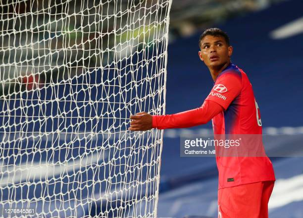 Thiago Silva of Chelsea during the Premier League match between West Bromwich Albion and Chelsea at The Hawthorns on September 26 2020 in West...
