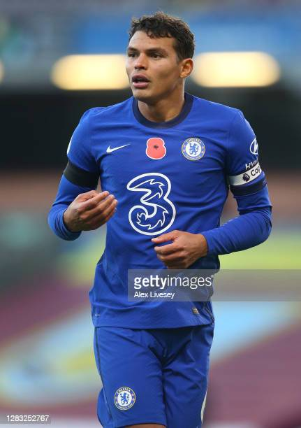 Thiago Silva of Chelsea looks on during the Premier League match between Burnley and Chelsea at Turf Moor on October 31 2020 in Burnley England...
