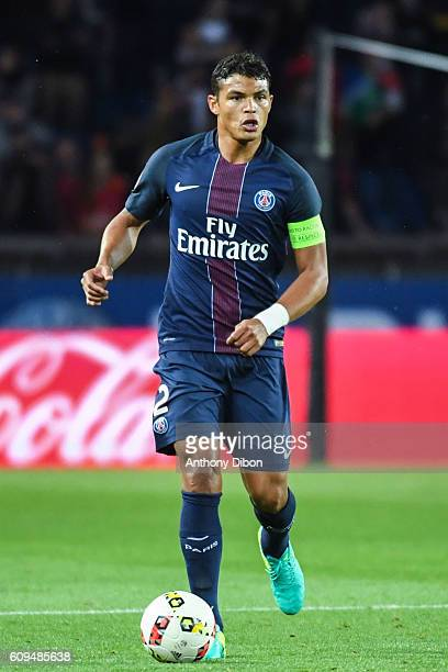 Thiago Silva of PSG during the French Ligue 1 game between Paris SaintGermain and Dijon FCO at Parc des Princes on September 21 2016 in Paris France