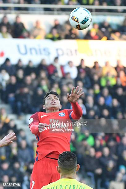 Thiago Silva of PSG during the French Ligue 1 match between Nantes and Paris Saint Germain at Stade de la Beaujoire on January 21 2017 in Nantes...
