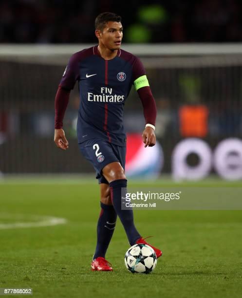 Thiago Silva of PSG during the UEFA Champions League group B match between Paris SaintGermain and Celtic FC at Parc des Princes on November 22 2017...