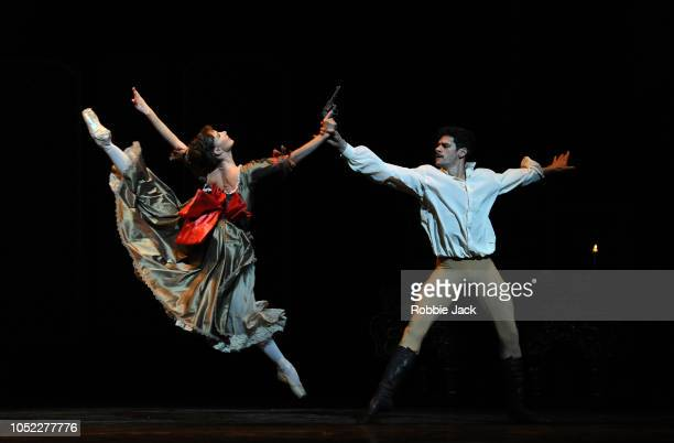 Thiago Soares as Rudolf and Lauren Cuthbertson as Mary Vetsera in the Royal Ballet's production of Kenneth MacMillan's Mayerling at the Royal Opera...