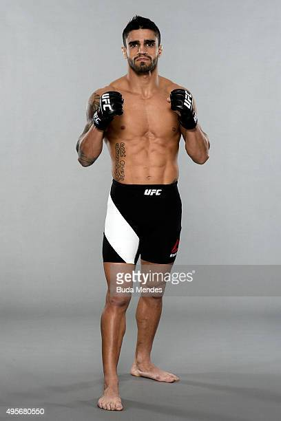 Thiago Tavares poses for a portrait during a UFC photo session at Hilton Hotel on November 4 2015 in Sao Paulo Brazil