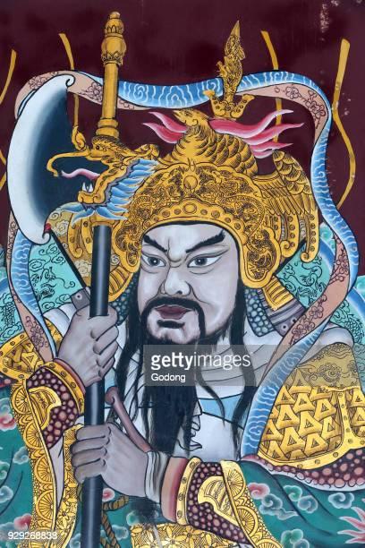 Thian Hock Keng Temple Door god Yuchi Gong Singapore