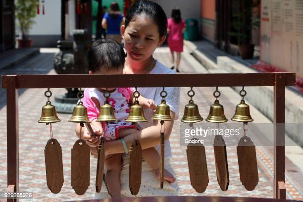 Thian Hock Keng Temple Wishing bells Singapore