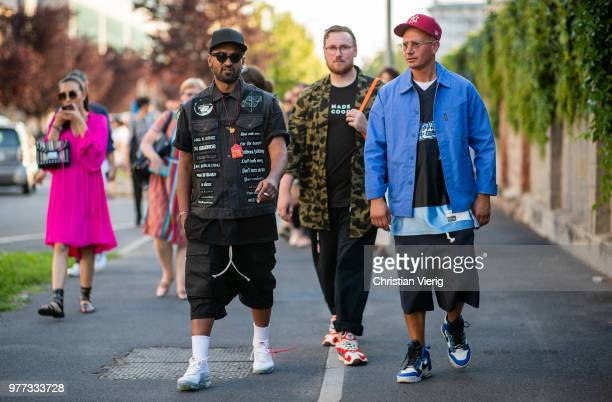 Thian Pillay Matteo Marucci is seen outside Palm Angels during Milan Men's Fashion Week Spring/Summer 2019 on June 17 2018 in Milan Italy
