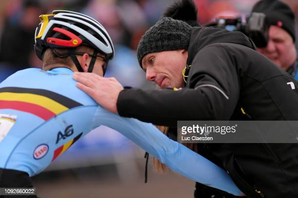 Thibau Nys of Belgium and Team Belgium / Sven Nys of Belgium general manager and owner of Team Telenet Fidea Lions / Father / during the 70th...
